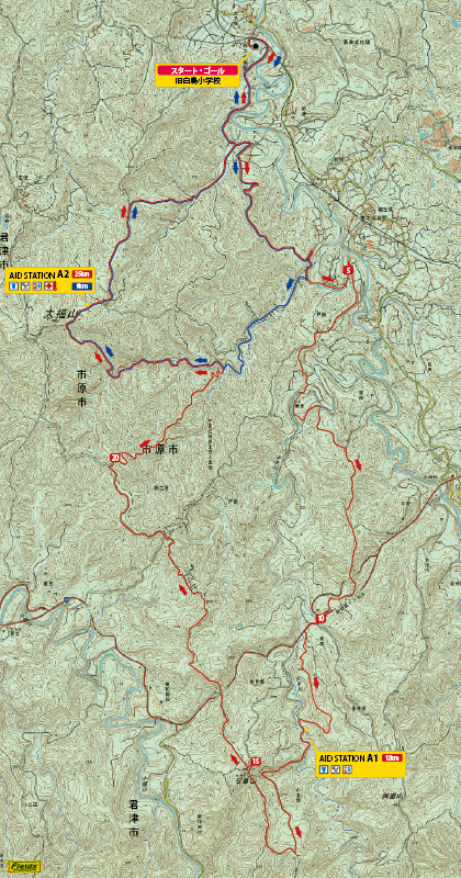 第9回房総丘陵-コース図