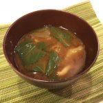 モロヘイヤ 味噌汁