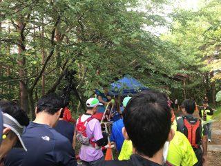 富士山麓トレイルラン2017 スタート地点の様子