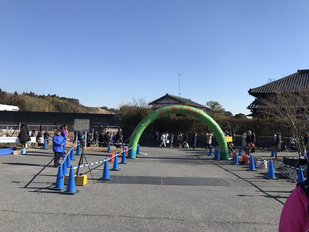 高滝湖マラソン ゴール地点