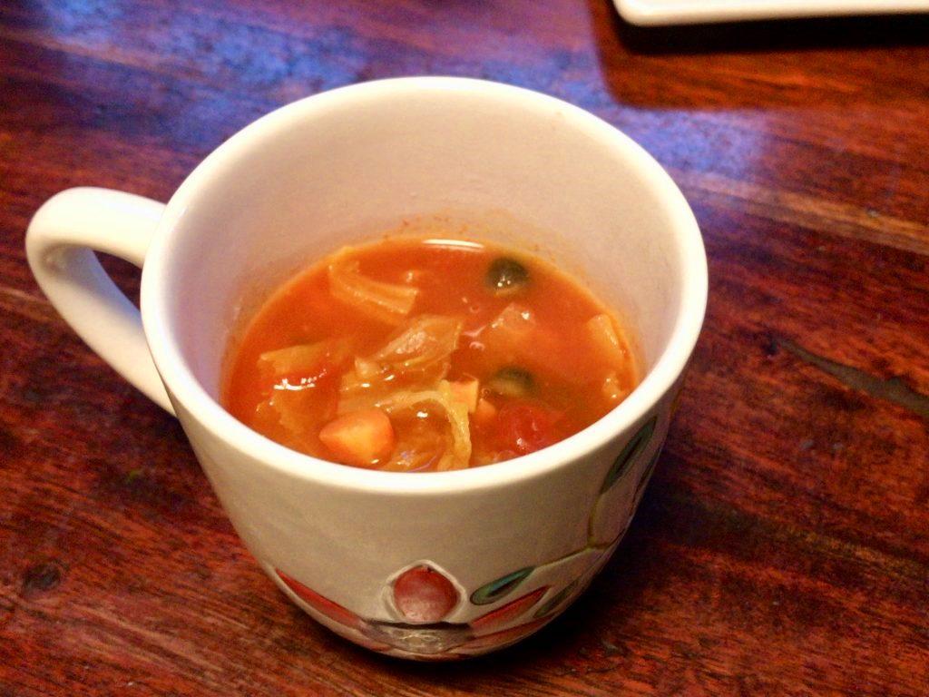 野菜たっぷりトマトスープ